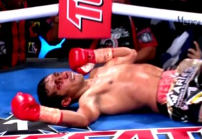 Former pound for pound king delivers a devastatingly scary KO
