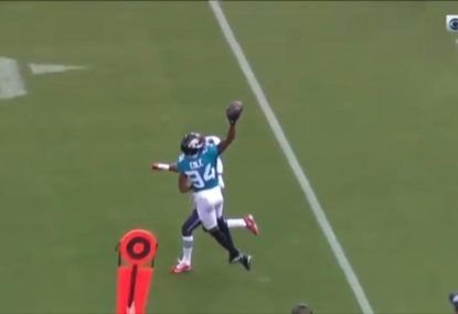 Cole's incredible Odell Beckham-like grab