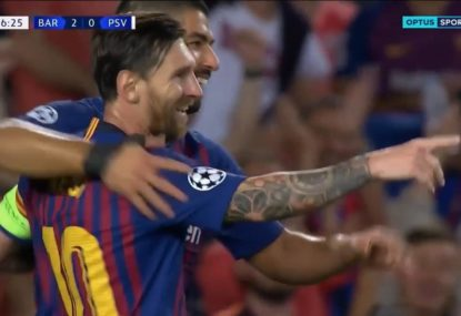Messi makes it three against PSV