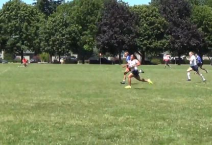 Young gun's sensational try in first game of rugby