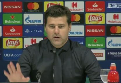 Pochettino loses cool with reporters when asked about selections