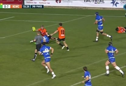 The Country Eagles score ridiculous team try from Rays' turnover