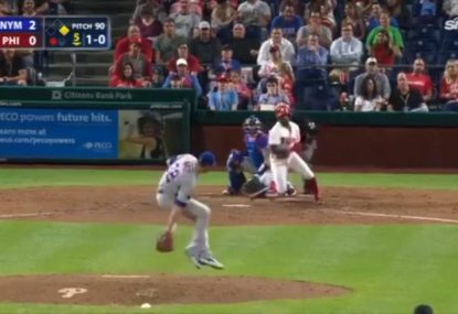 Pitcher's extraordinary behind-the-back catch is something to be seen