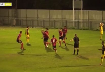 Footballer lives the dream with last-gasp winning header
