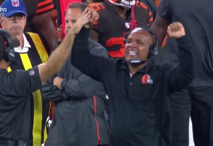 Drop everything - the Cleveland Browns actually won a game!