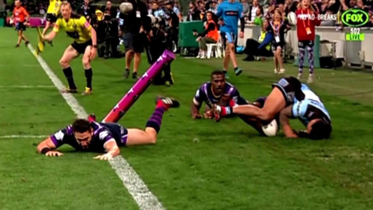 Did Billy Slater get off lightly for this shoulder charge?