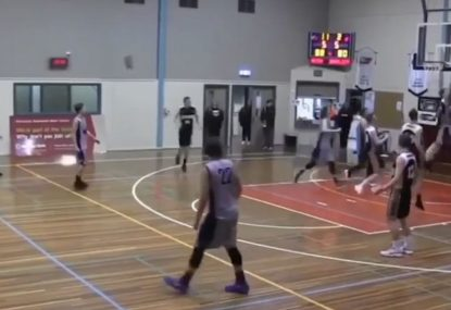 Brilliant layup-and-one gets bench off their seats