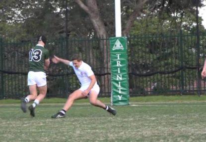 Defender get his ankles snapped by brutal side step