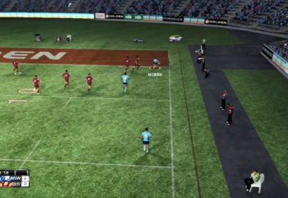 The virtual Blues emulate their real life counterparts with sensational tries