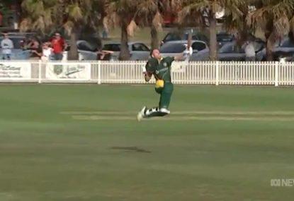 David Warner celebrates in trademark style upon scoring grade cricket ton