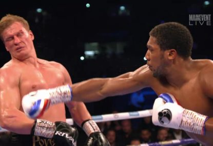 Anthony Joshua destroys Alexander Povetkin with brutal KO