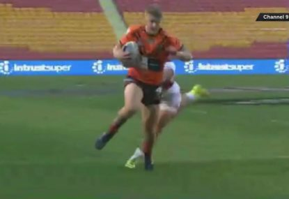 Tigers show plenty of cheek for the opening try