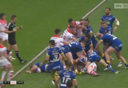 Ugly all-in brawl breaks out above injured player