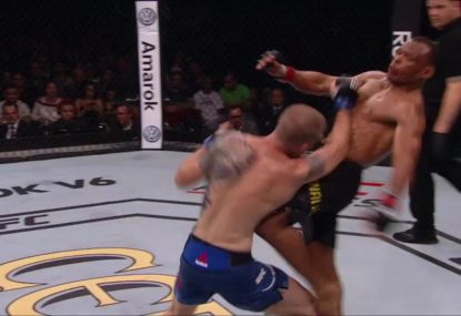 Vicious liver-shot leaves retiring UFC fighter in 'agony'