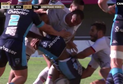 Toulouse skipper sees red for shocking lifting tackle