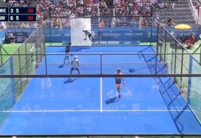 Must watch: Padel player goes through glass in shocking moment