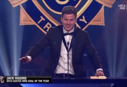 Jack Higgins steals the show again with hysterical GOTY winner's speech