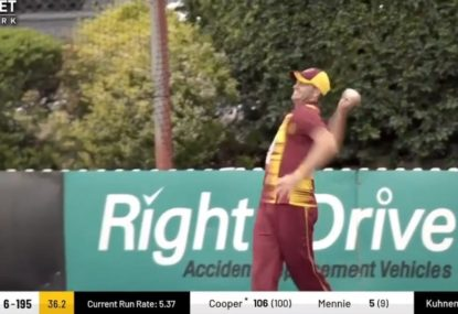 Joe the Cameraman would totally sledge this worst cricket throw contender