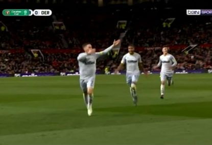 Manchester United sensationally knocked out of English League Cup