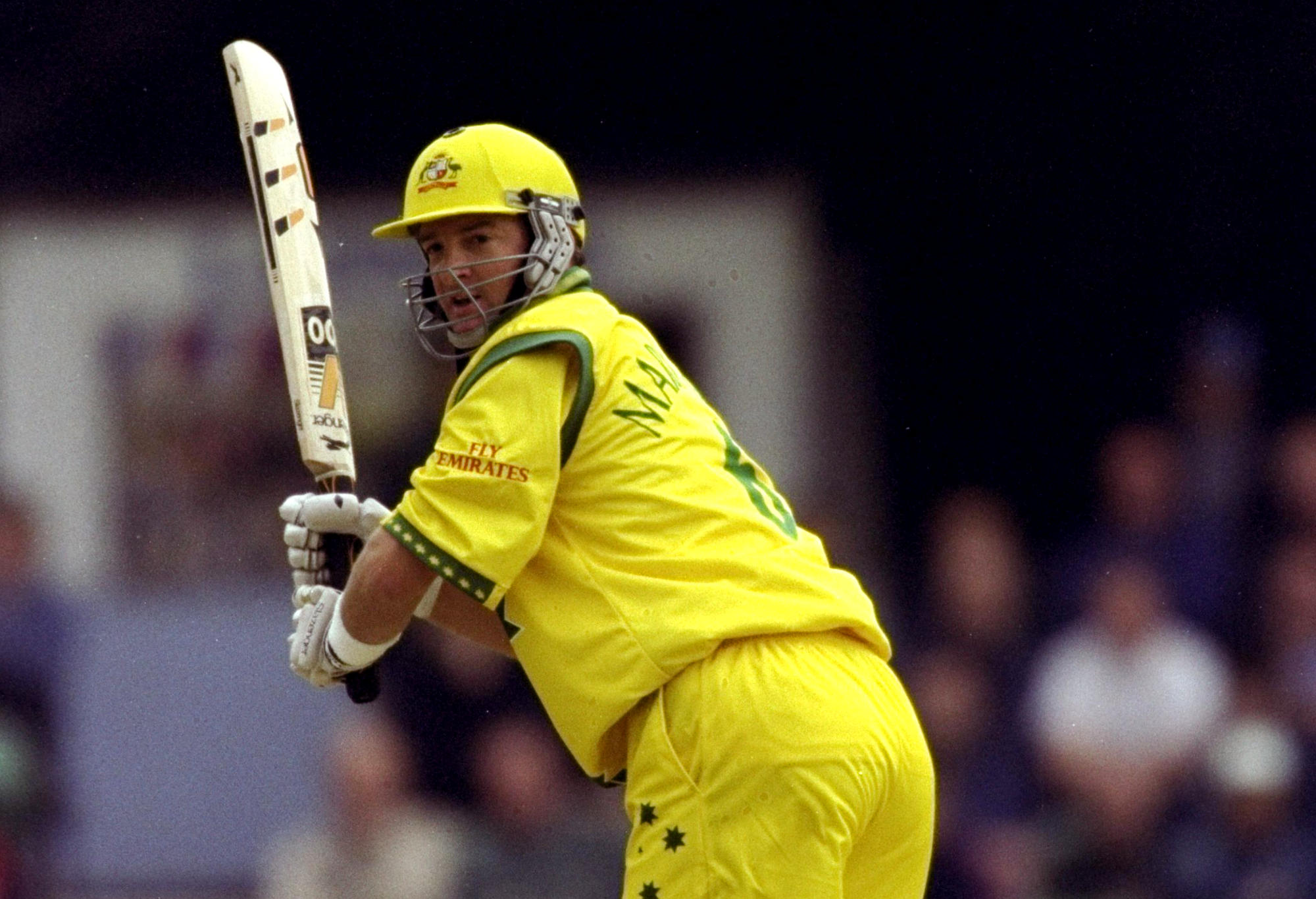 Mark Waugh plays a leg glance