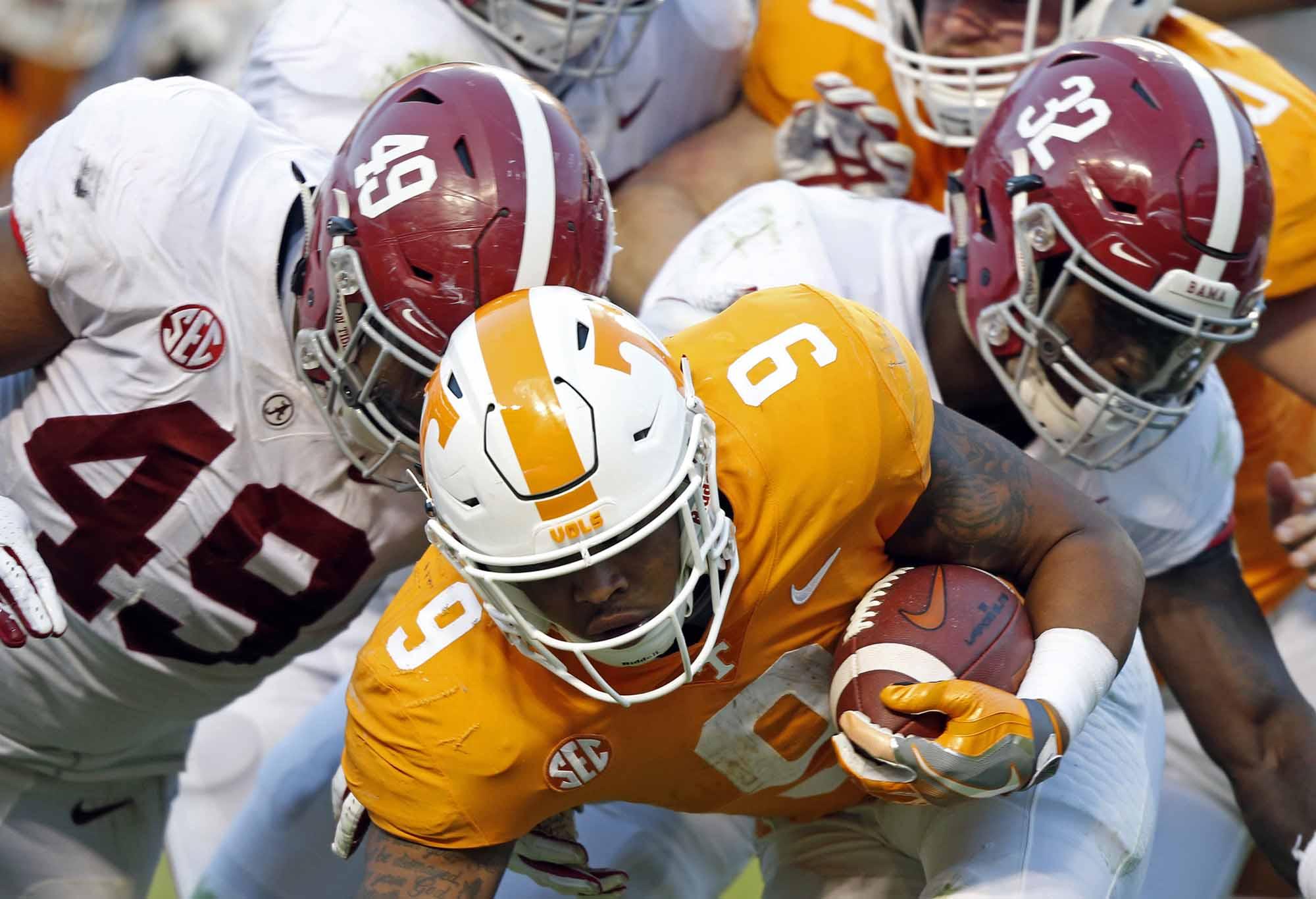 Alabama versus Tennessee College football
