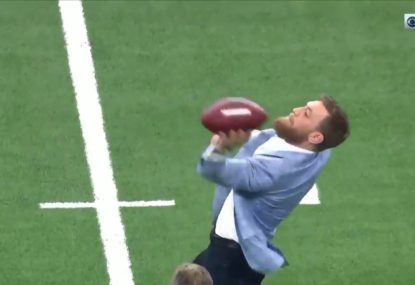 Conor McGregor's terrible throw before NFL game leads to savage roasting