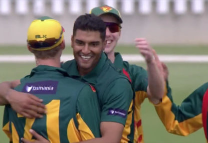 WATCH: Gurinder Sandhu's hat-trick destroys Victoria's innings in JLT Cup final