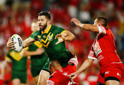 Tedesco stars as Kangaroos topple Tonga in historical match