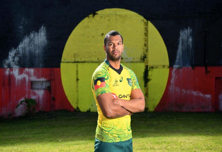 Kurtle Beale in the Wallabies indigenous jersey