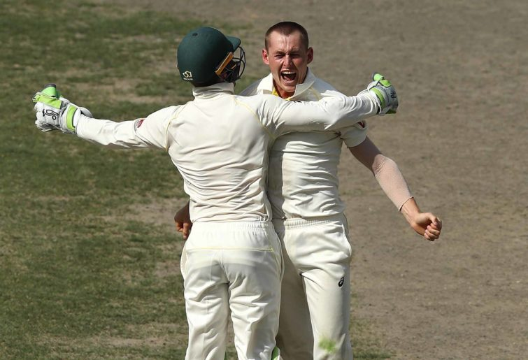 Marnus Labuschagne of Australia celebrates