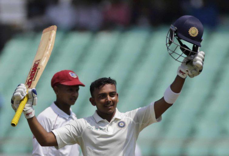 Indian batsman Prithvi Shaw