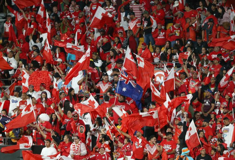 Tongan fans in the crowd