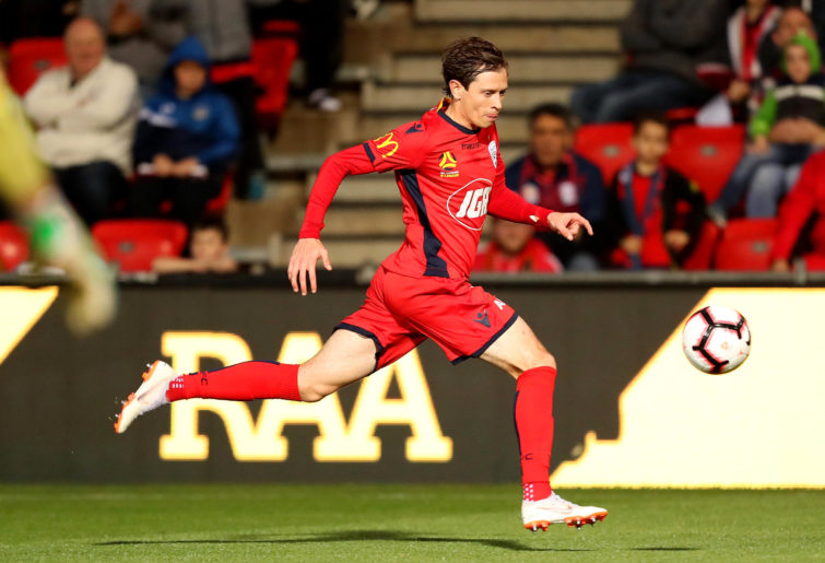 Craig Goodwin of Adelaide United in action
