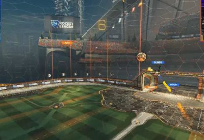 Impossible Rocket League save in the last seconds forces game to overtime