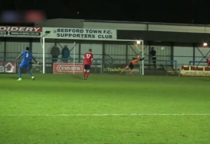 Goalie can't stop sweet swerving left-foot strike