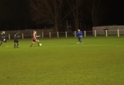 Goalkeeper rushes out and pays the ultimate price