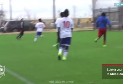 Attacker delivers a two touch belter of a goal!