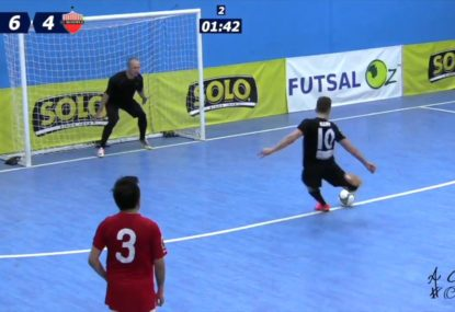 Futsal superstar wins game off his own boot!