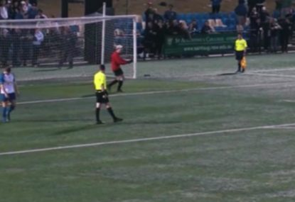 Is this the worst penalty shootout attempt of the year?