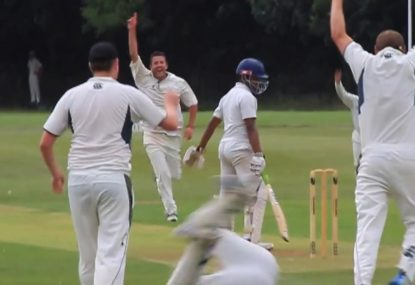 Fielders left reeling after dubious not out call