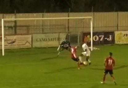 Massive deflection results in the unluckiest of own goals!