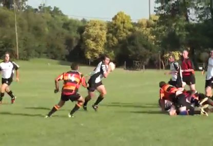 Razzle dazzle rugby sets up remarkable team try!