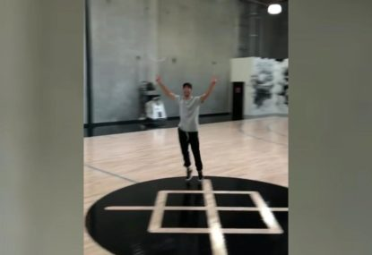 Daniel Ricciardo sinks half-court shot, confirms he's the GOAT