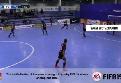 Australia's best futsal player hits the sweet spot with this fiery volley!
