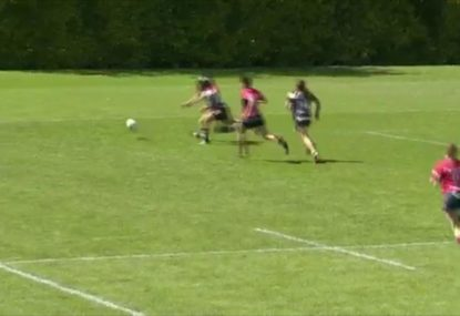 Speedster almost completes sensational try but for dropped ball