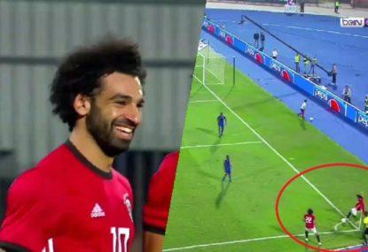 Mo Salah scores outrageous goal from a corner