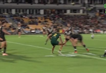 DWZ pulls off epic tunnel ball for an NZ try