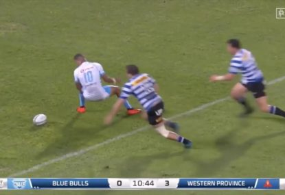 South African goes within millimetres of an all time howler