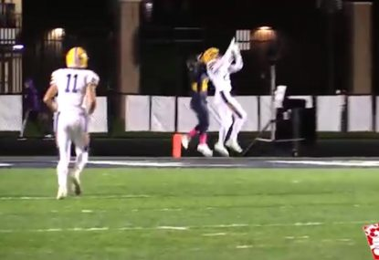 Hail Mary! Quarterback's clutch desperation pass somehow finds the mark