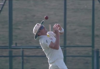 Peter Siddle very nearly bungles the simplest of catches